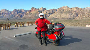 Herb with Bike in Red Rock Canyon