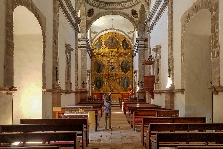 Interior of Mision San Ignacio