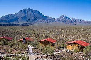Eco tour cabins at Las Tres Vírgenes