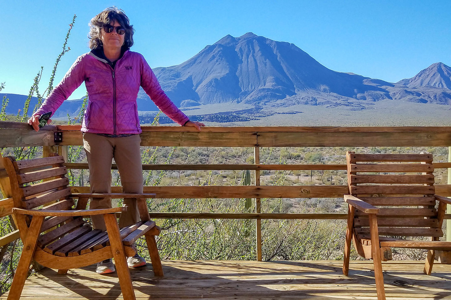 Our balcony overlooking the volcanoes