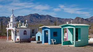 Roadside cemetery on the road to Mulege