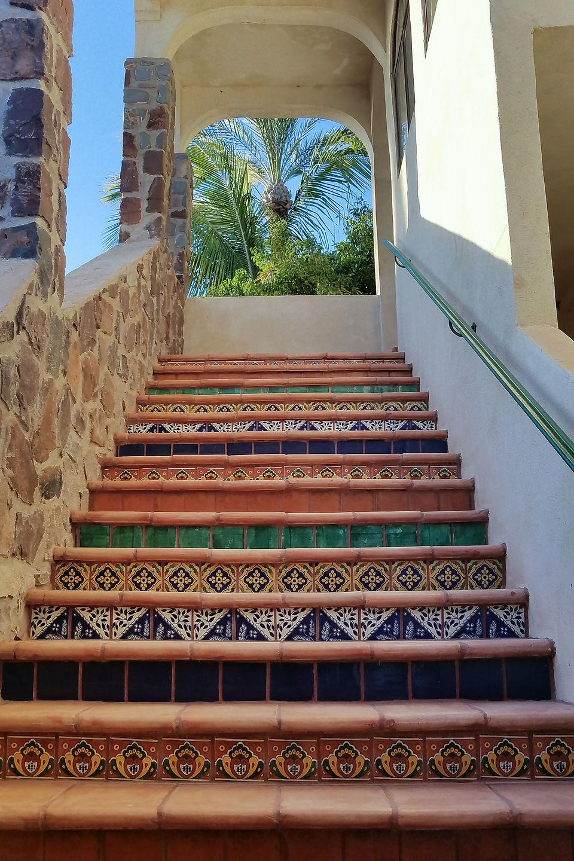 Tiled steps of Hotel Casa Granada