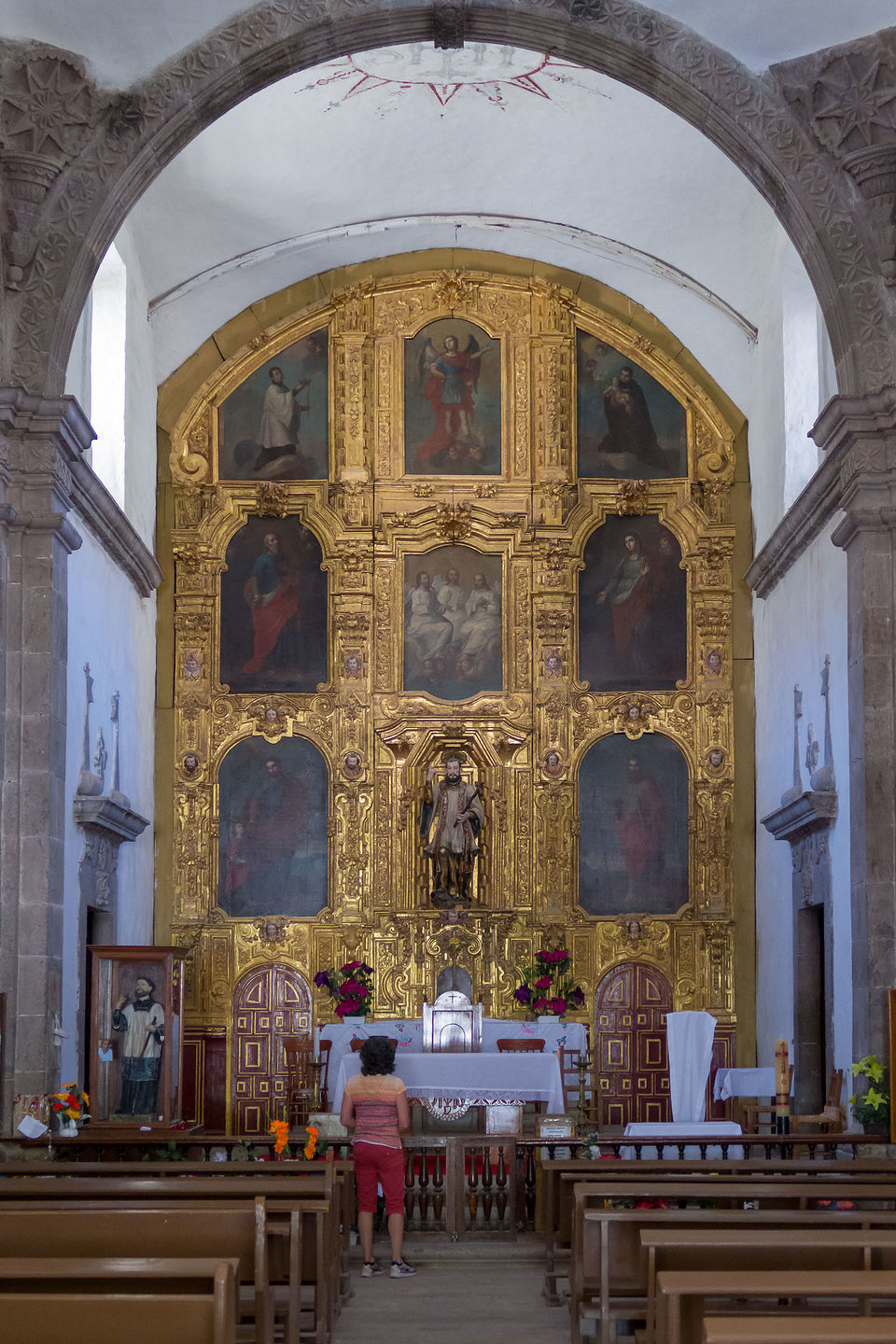 Interior of Mision San Francisco Javier