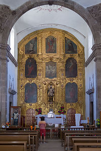 Interior of Mision San Francisco Javier