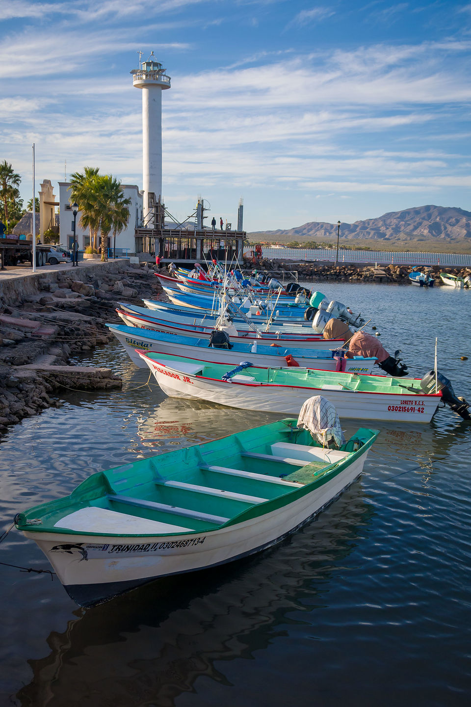 Marina along the Loreto Malecon
