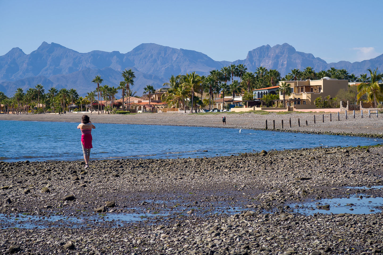 Strolling along the Loreto Beach