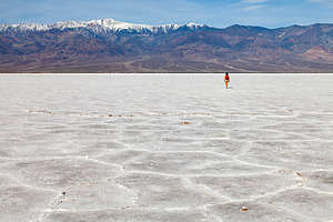 Salt hexagons of Badwater Basin