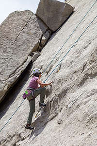 Even Lolo hits the walls of Pine Creek Canyon