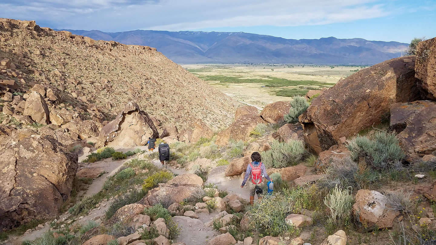 Hiking out of the Volcanic Tablelands