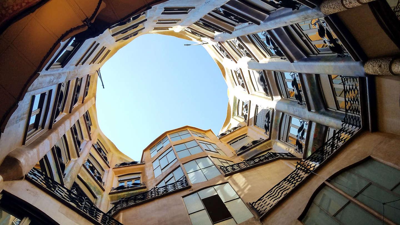 Atrium of Gaudi's Casa Mila