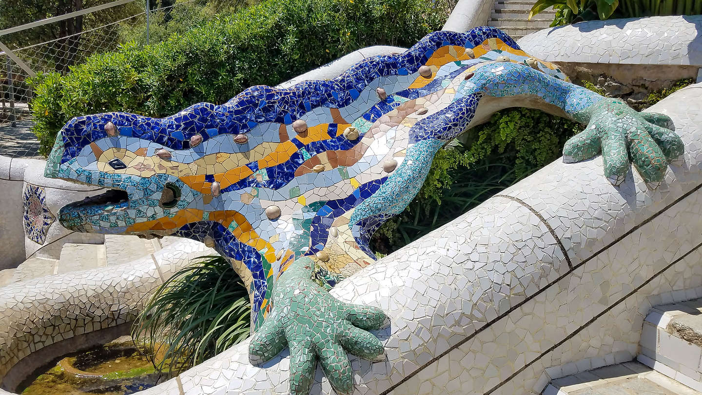 Park Guell's monument zone