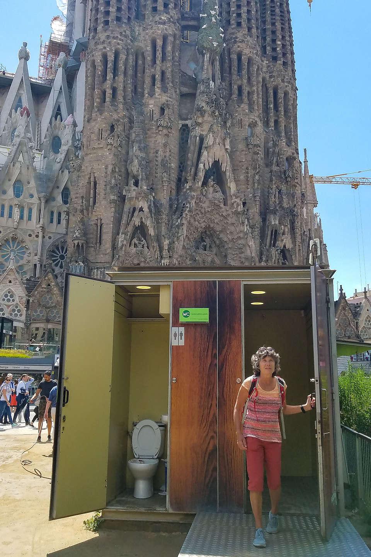 Lolo finishing her tour of the Sagrada Familia