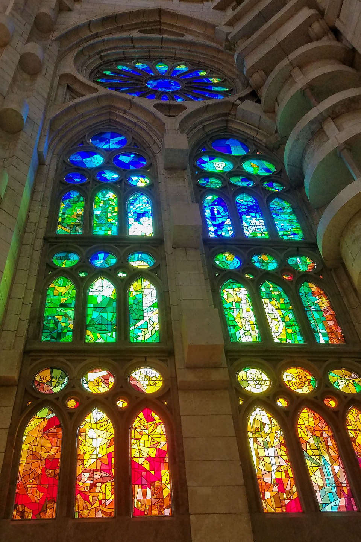 Sagrada Familia stained glass windows