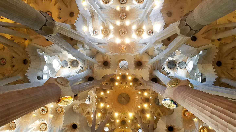 Ceiling of the Sagrada Familia