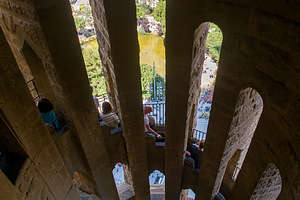 Climbing up the Nativity Tower