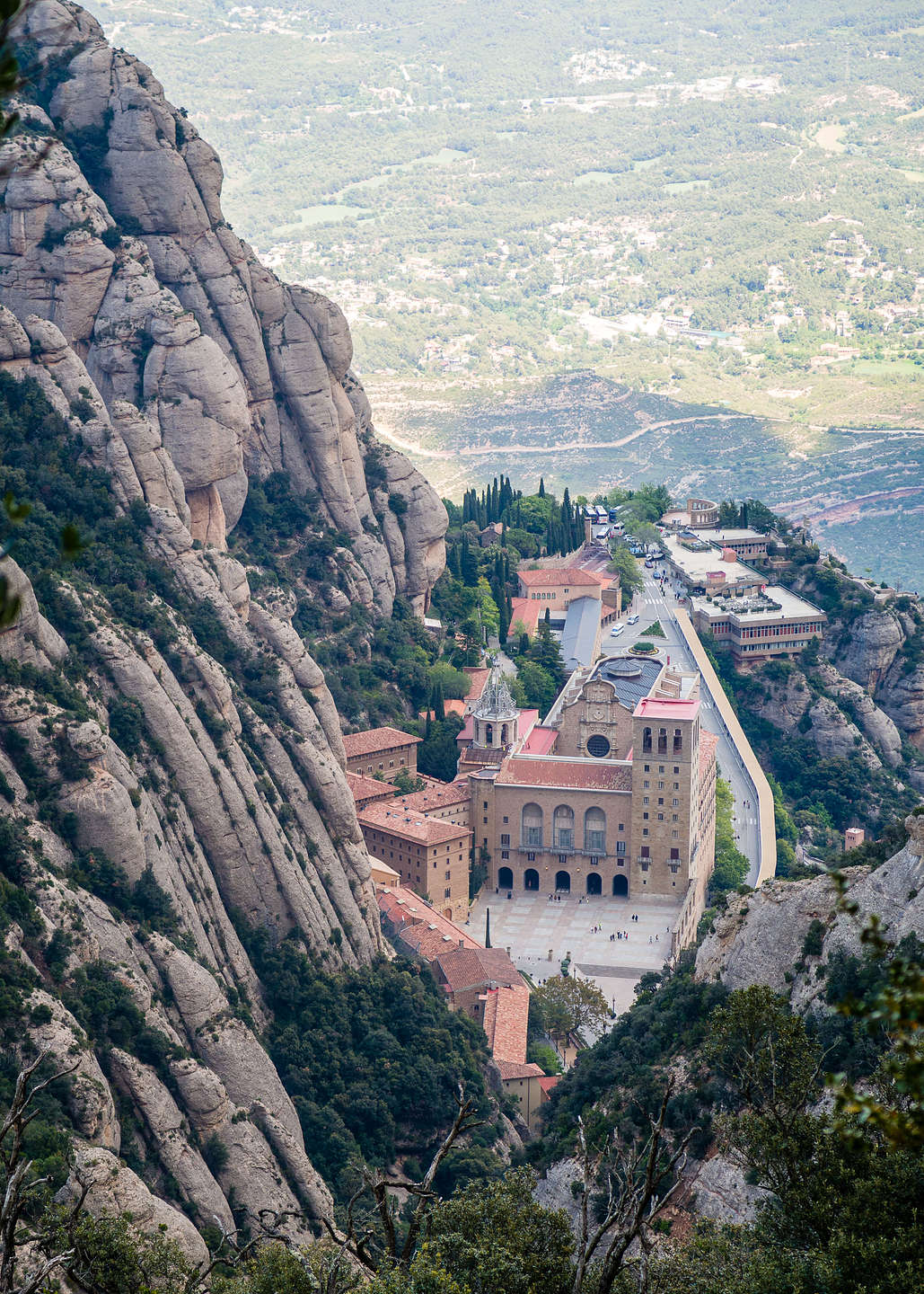Looking down from atop the Funicular de Sant Joan