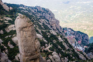 Rock climbers enjoying the view