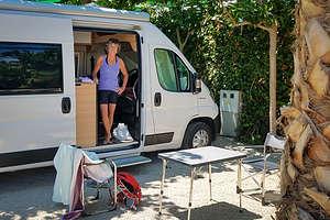 Our campsite at La Marina