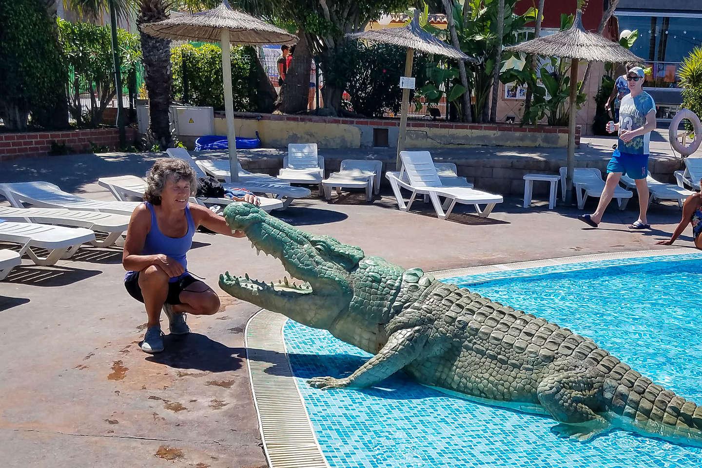 Lolo enjoying the La Marina wildlife
