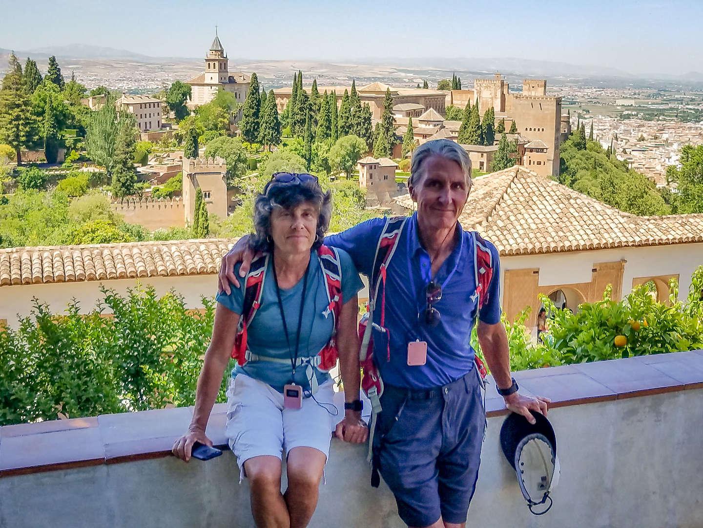 Enjoying the incredible Alhambra