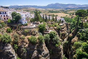 Ronda  above the 300-foot deep the El Tajo Gorge