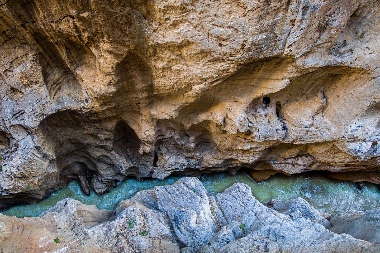 Looking down into the Garganta del Chorro gorge