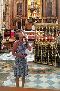 Lolo in the cathedral portion of the Mezquita