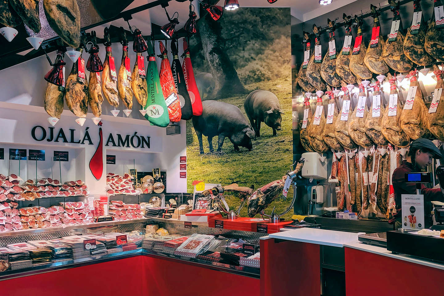 Jamon, as far as the eye can see