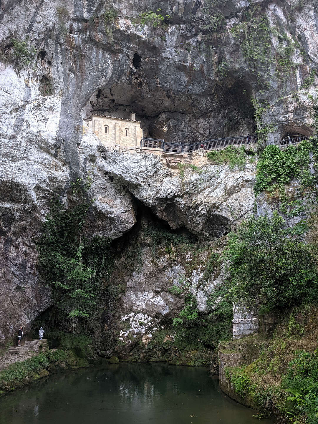 Santa Cueva, a hillside cave where, according to legend, the Virgin Mary appeared in 722 AD