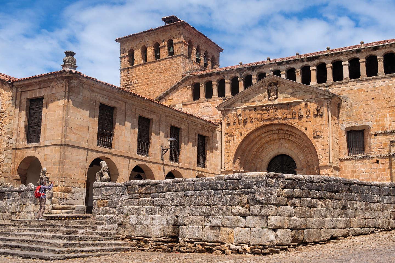 Romanesque Church in village of Santillana del Mar