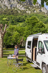 Our campground in the Picos de Europa