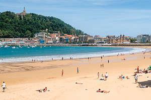 San Sebastian's lovely Playa de La Concha