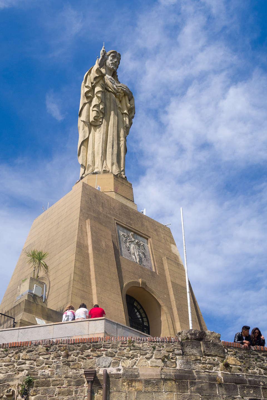 40-foot Jesus statue atop Mount Urgull
