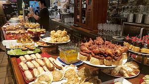 Yummy dinner at the Baztan Pintxos and Bar