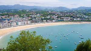 View of La Playa de La Concha from atop Mount Urgull