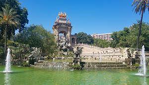 "Parc de la Ciutadella's ""Cascada,"" an ornamental fountain designed by Gaudi"