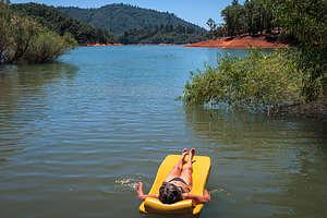 Lolo enjoying her float