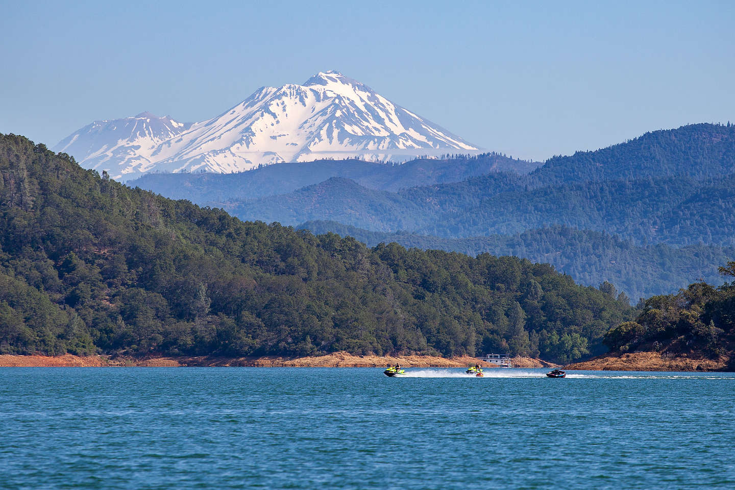 View of Mt. Shasta from our campsite on Slaughterhouse Island