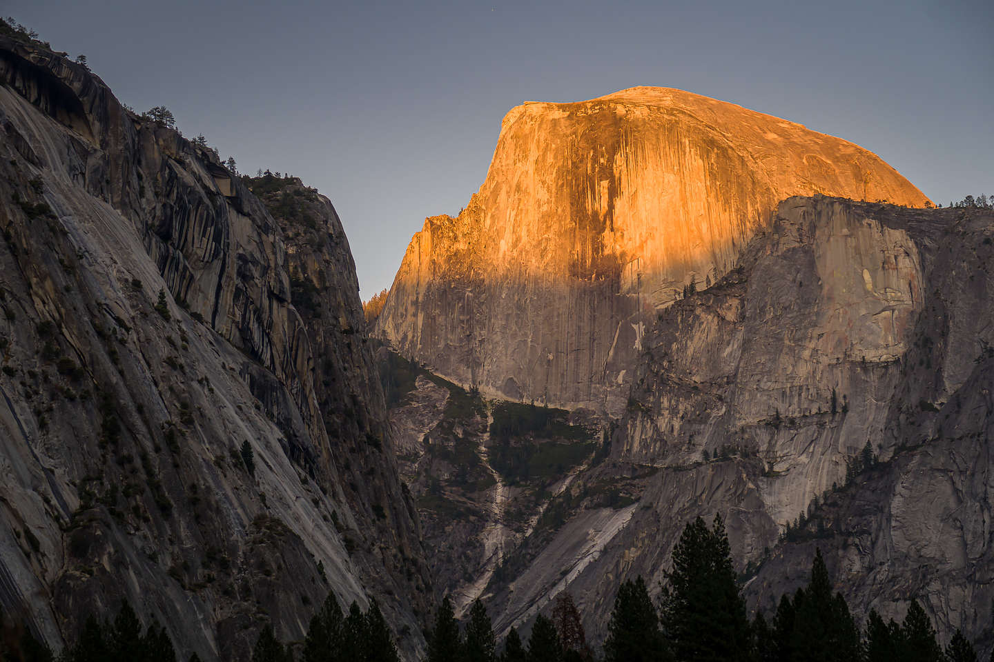 Alpenglow over Half Dome