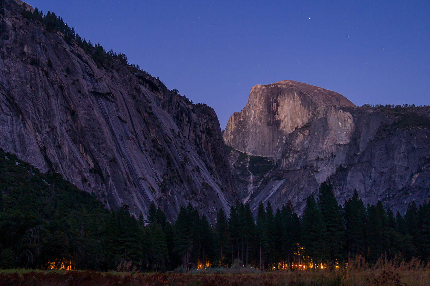 Ahwahnee-glow after sunset