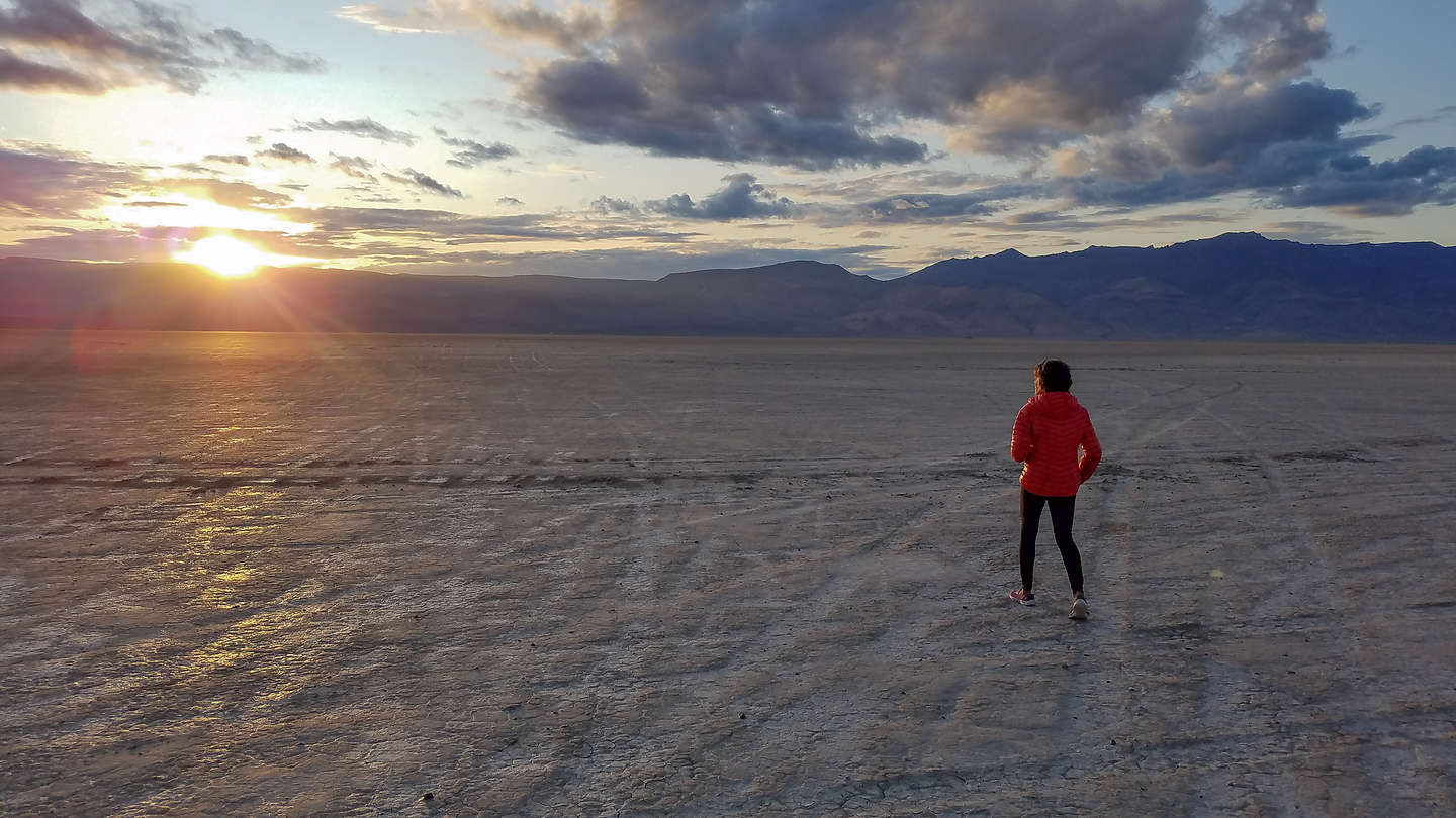 Sunset over the playa