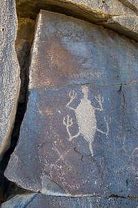 Petroglyph along Petroglyph Lake