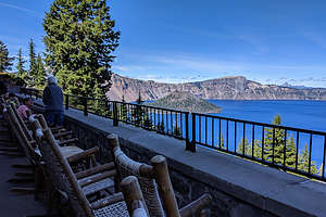 Porch of Crater Lake Lodge