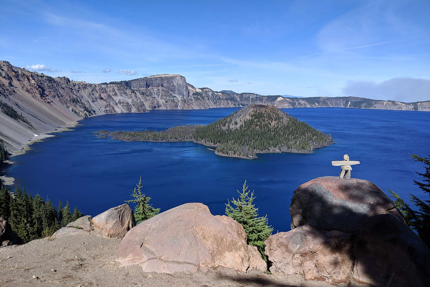 View of Crater Lake and Wizard Island from the Discovery Point Trail