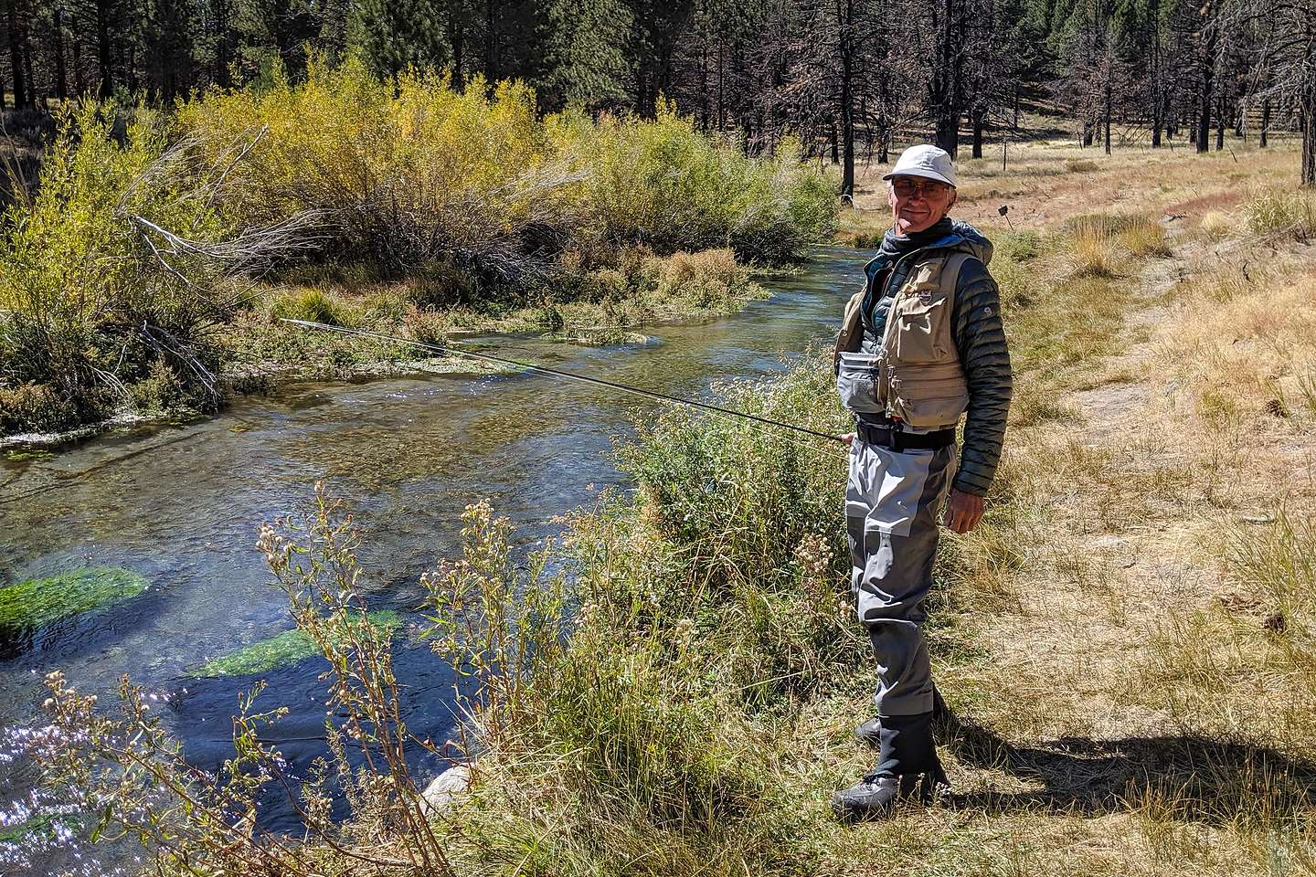Herb fishing the Owens River
