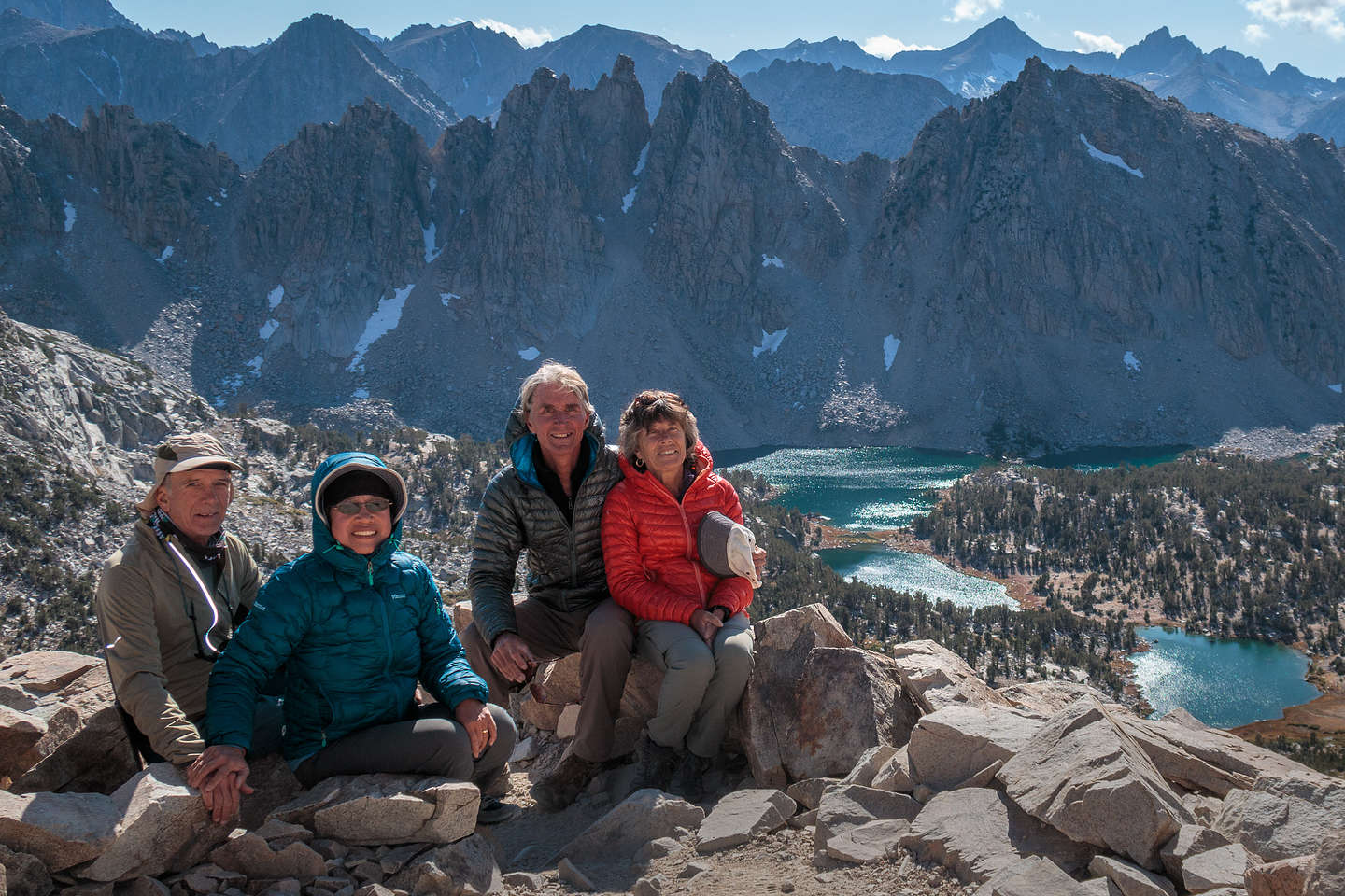 """The """"Outlaws"""" atop Kearsarge Pass"""