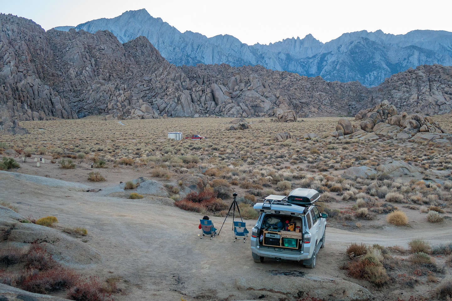Our camping spot in the Alabama Hills