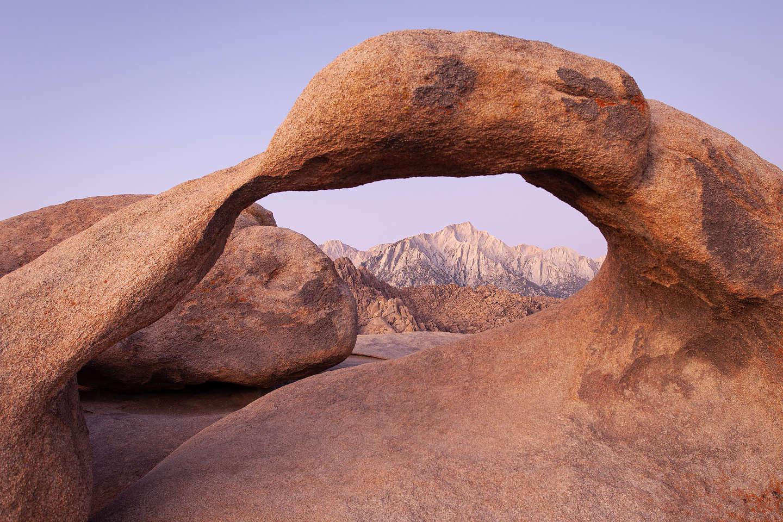 Mt. Whitney through Mobius Arch