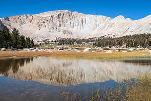 The first of many lakes on the Cottonwood Lakes hike