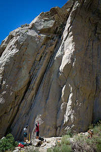 Our sons climbing at Pine Creek Canyon